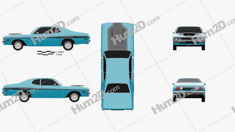 Dodge Demon 340 1972 car clipart