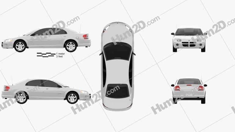 Dodge Stratus 2001 car clipart