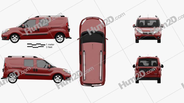 Dodge Ram Pro Master City Wagon 2015 Clipart Image