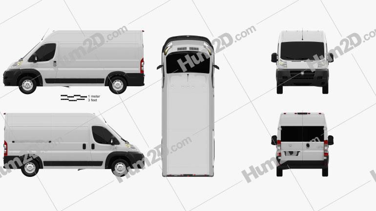 Dodge Ram Pro Master Cargo Van L2H2 2013 clipart