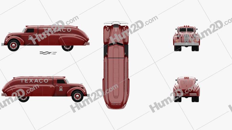 Dodge Airflow Tank Truck 1938 clipart