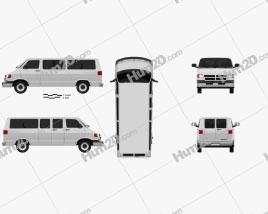 Dodge Ram Van 1994 clipart