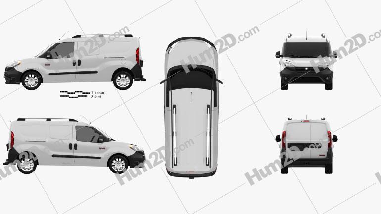 Dodge Ram Promaster City Cargo L2H1 2015 Clipart Image