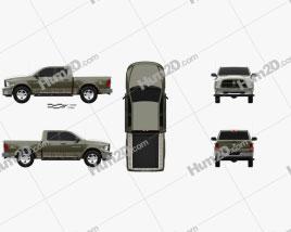 Dodge RAM 1500 Mossy Oak Edition 2014 car clipart