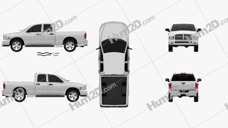 Dodge Ram 1500 Quad Cab SLT 2002 car clipart