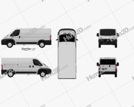 Dodge Ram ProMaster Cargo Van L2H1 2013 Clipart