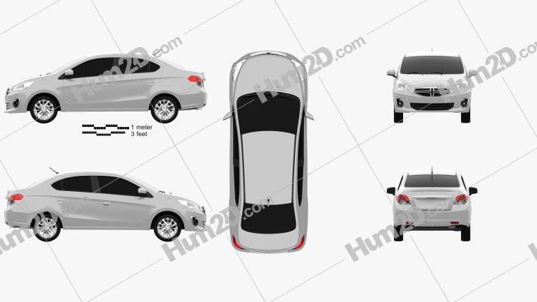 Dodge Attitude 2014 car clipart