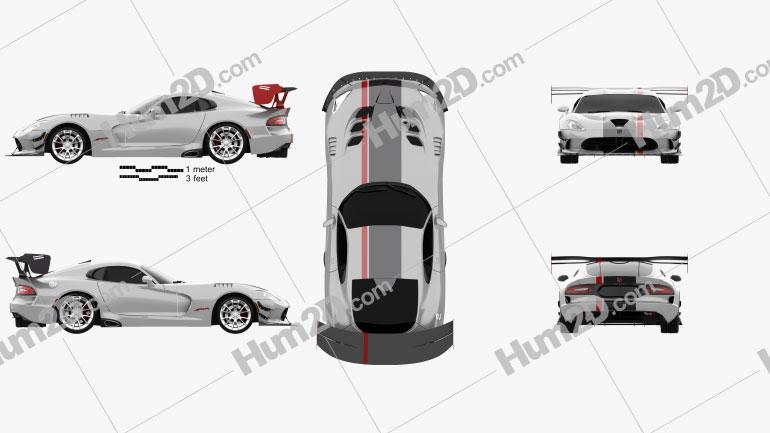 Dodge Viper ACR 2016 car clipart