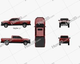 Dodge Ram 1500 Rebel 2015 car clipart