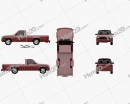 Dodge Dakota Regular Cab 1991 car clipart
