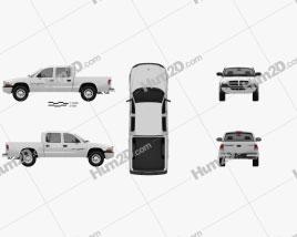 Dodge Dakota Sport Quad Cab 2000 car clipart