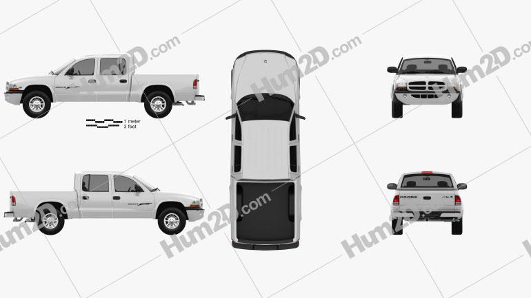 Dodge Dakota Sport Quad Cab 2000 Clipart Bild