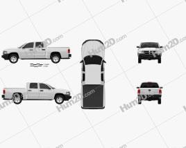 Dodge Dakota Crew Cab 2007 car clipart