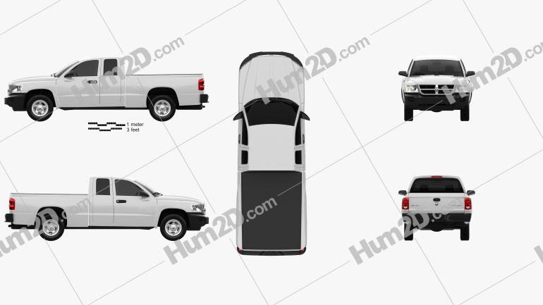 Dodge Dakota Extended Cab 2007 Clipart Image
