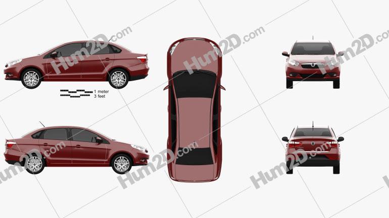 Dodge Vision 2015 car clipart