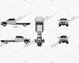 Dodge Ram Crew Cab Chassis L2 Laramie 2016 car clipart