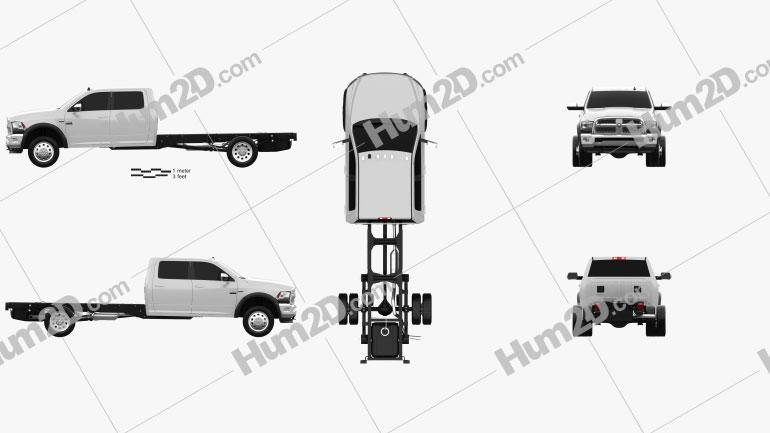 Dodge Ram Crew Cab Chassis L2 Laramie 2016 Clipart Image