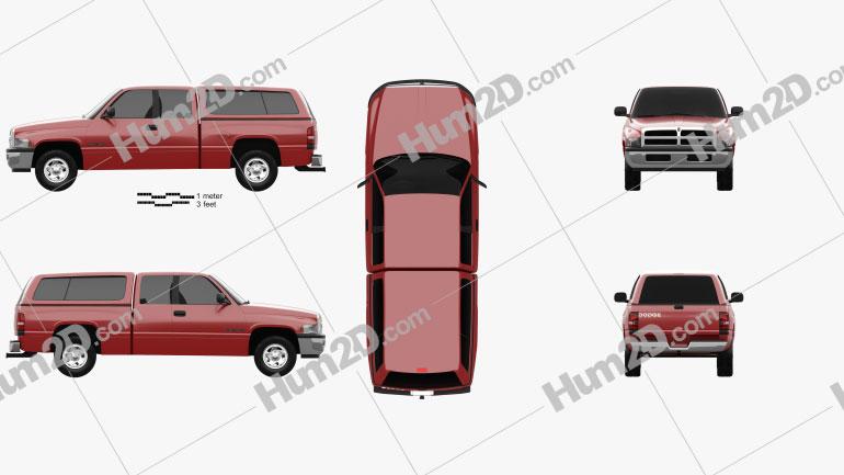 Dodge Ram 1500 Club Cab ST 1999 car clipart