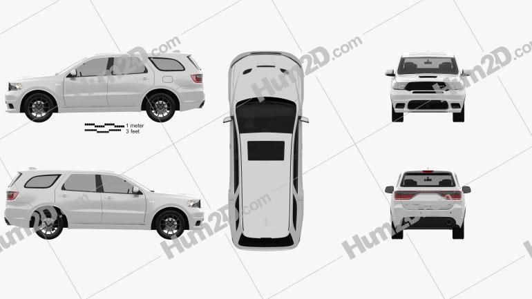 Dodge Durango SRT 2017 Clipart Image