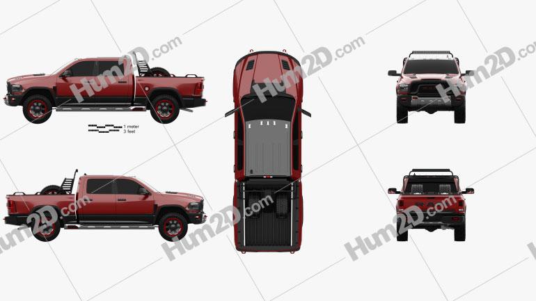 Dodge Ram 1500 Rebel TRX 2017 car clipart