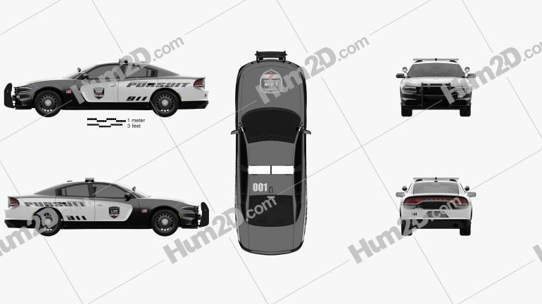 Dodge Charger Pursuit 2015 car clipart