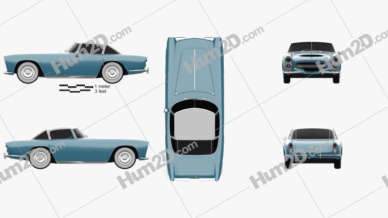 Dodge Zeder Z-250 1953 car clipart
