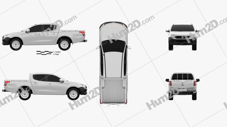 Dodge Ram 1200 Double Cab ST 2017 Clipart Image