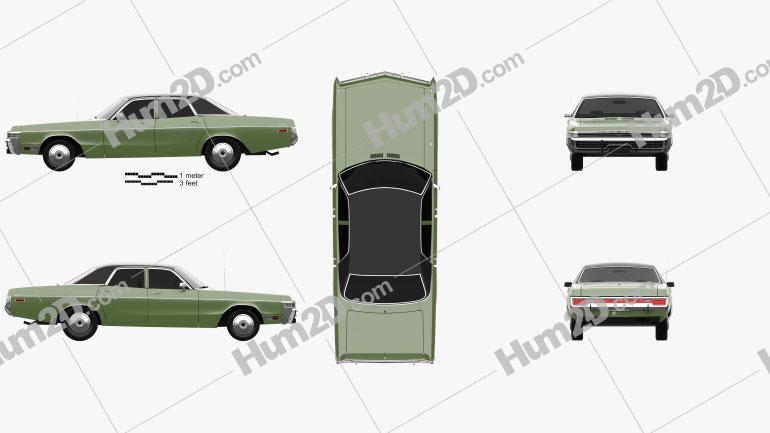 Dodge Monaco sedan 1972 car clipart