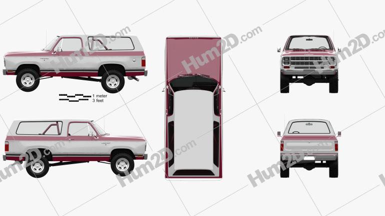 Dodge Ramcharger mit HD Innenraum 1979 Clipart Bild