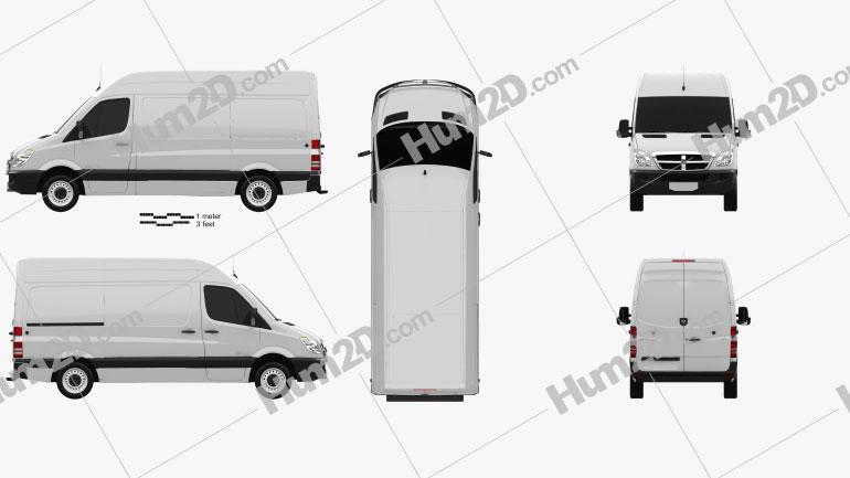 Dodge Sprinter 2500 Furgão L1H2 2006 clipart