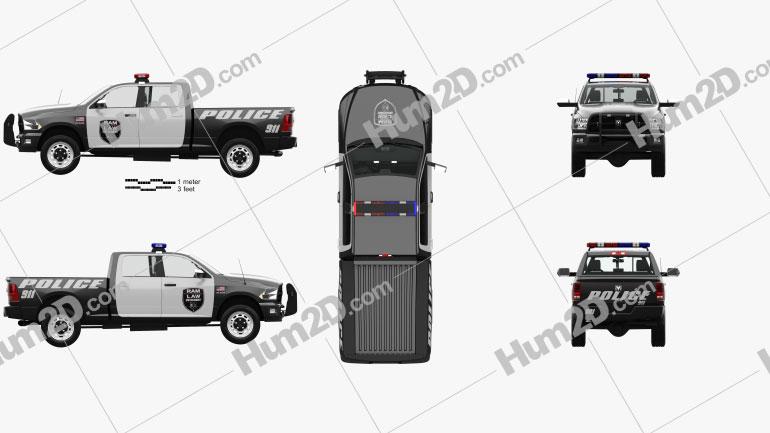 Dodge Ram Crew Cab Police with HQ interior 2016 car clipart