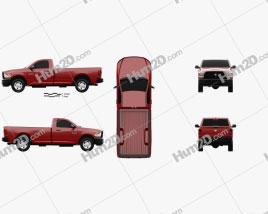 Dodge Ram 3500 Regular Cab pickup 2014 car clipart