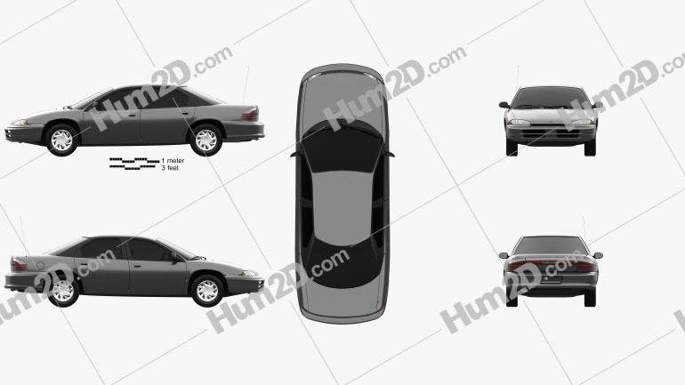 Dodge Intrepid 1993 Clipart Bild