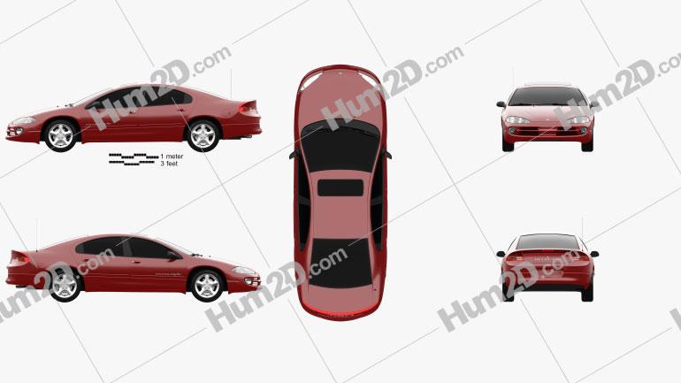 Dodge Intrepid RT 2001 car clipart
