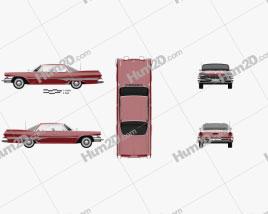 Dodge Dart Phoenix Hardtop Sedan 1960 car clipart