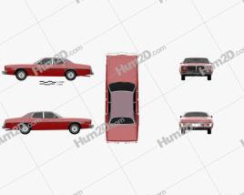 Dodge Coronet sedan 1975 car clipart
