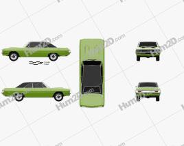 Dodge Dart Swinger convertible 1970 car clipart