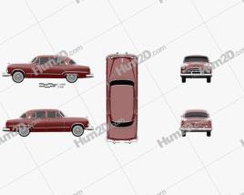 Dodge Coronet sedan 1953 car clipart