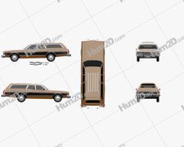 Dodge Coronet station wagon 1974 car clipart