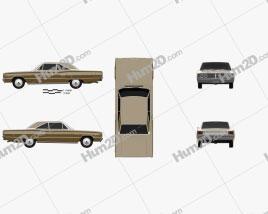 Dodge Coronet 500 hardtop 2-door 1966 car clipart