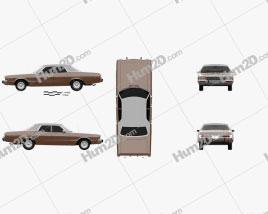 Dodge Polara Custom sedan 1973 car clipart