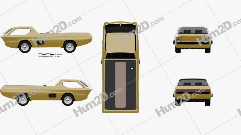 Dodge Deora 1967 car clipart