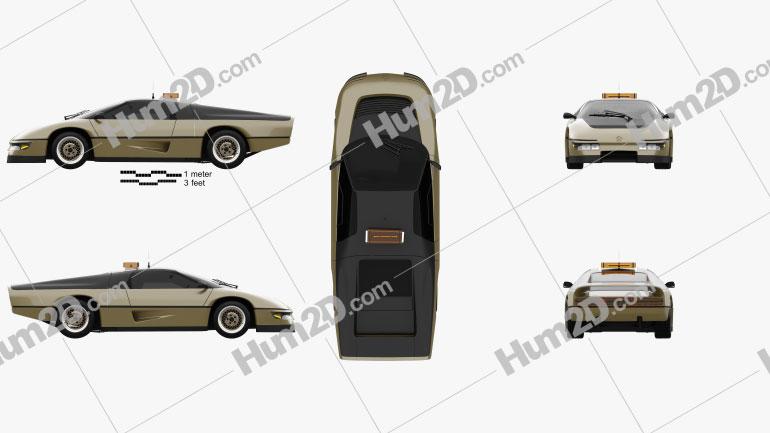 Dodge M4S PPG Turbo Conceito 1981 car clipart