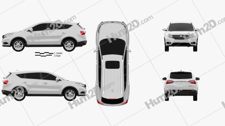 DongFeng Fengguang 580 2016 car clipart