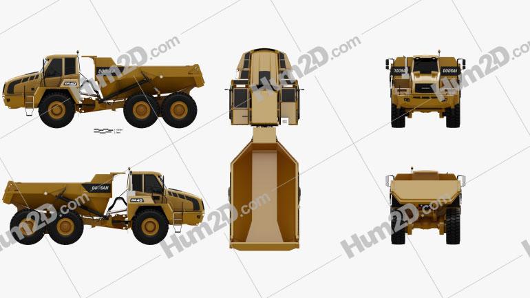 Doosan DA40 Dump Truck 2011