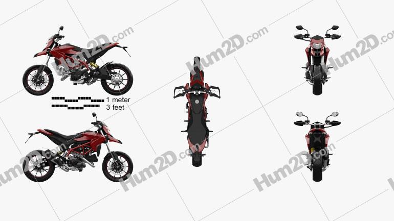 Ducati Hypermotard 2013 Motorcycle clipart