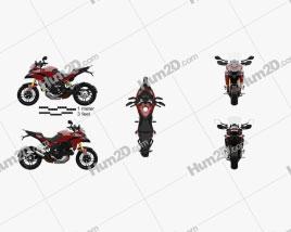 Ducati Multistrada 1200 2010 Motorcycle clipart