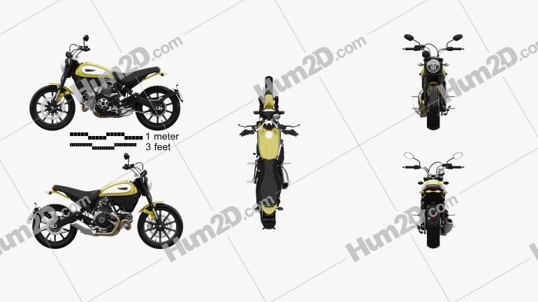 Ducati Scrambler Icon 2015 Clipart Image