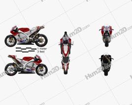 Ducati Desmosedici GP15 2015 Motorcycle clipart