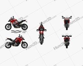 Ducati Multistrada 950 2019 Motorcycle clipart